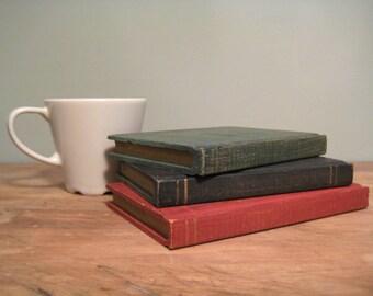 Unique Set of Vintage Painted Wooden Books