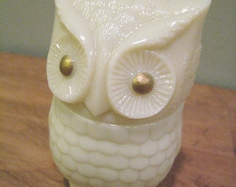 Vintage Owl Avon Cream Sachet Bottle