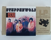 Vintage LP Record Puzzle, Steppenwolf - 70 pieces, Handcrafted, Repurposed