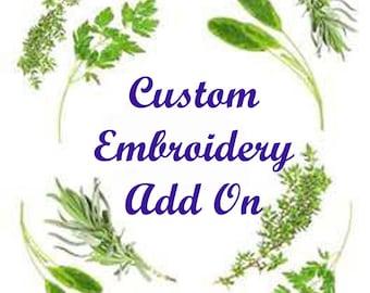 Custom Embroidery Add On, monogram listing