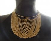 Vintage Funky Gold Chain Necklace
