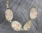 Vintage Sarah Coventry Gold Toned Geometric Shaped Bracelet