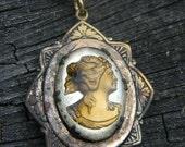 Victorian Reverse Cameo Gold Locket