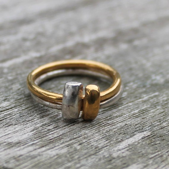 Vintage Silver and Gold Rings- One Ring or Two