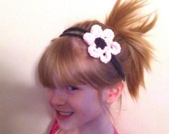 Pink Spring Flower Headband - Child