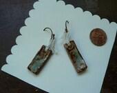 Stonewear Pottery Earrings.  Free Shipping.