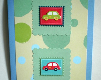 New Baby Card - Cars