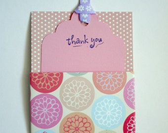 Thank You - Tag, pull out thank you tag, gift tag