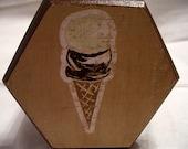 Ice Cream Cone Decoupaged Trinket Box