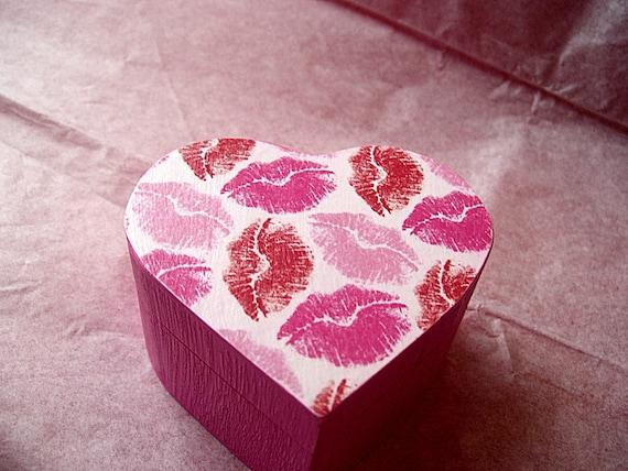 Kisses Decoupaged Trinket Box