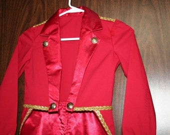 Child's Circus Ringmaster Tailcoat Jacket Costume - Sizes 4 to 14  - Photo Prop, Band Leader, Birthday, Halloween, Carnival, Wedding