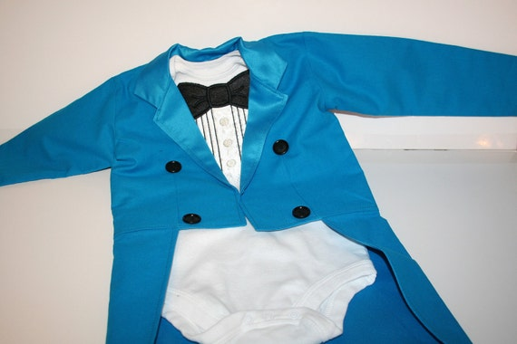 Tuxedo Jacket with Tails - Fully Lined in Satin - Birthday, Wedding, Photo Prop, Circus, Ringmaster, Band Leader, Uncle Sam