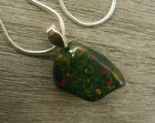 Bloodstone and Silver Necklace