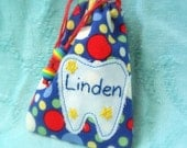 Polka Dots Boys Personalized Tooth Fairy Pouch makes a Great Easter Basket gift