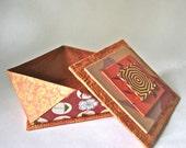 Faceted Origami Gift Box - Warm Orange Tones