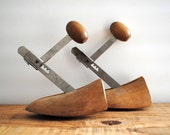 Vintage Wooden Shoe Forms - Pair of Wood Shoe Stretchers