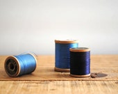 Vintage Spools of Thread - Cool Blue Collection