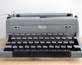 RESERVED Vintage Typewriter - Grey Royal Arrow Portable Typewriter
