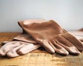 Vintage Gloves Long Opera Gloves Light Brown Camel