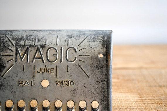 Vintage Metal Grater by Magic