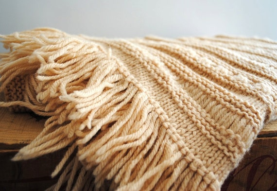 RESERVED for E. - Vintage Shawl - Knitted Wrap