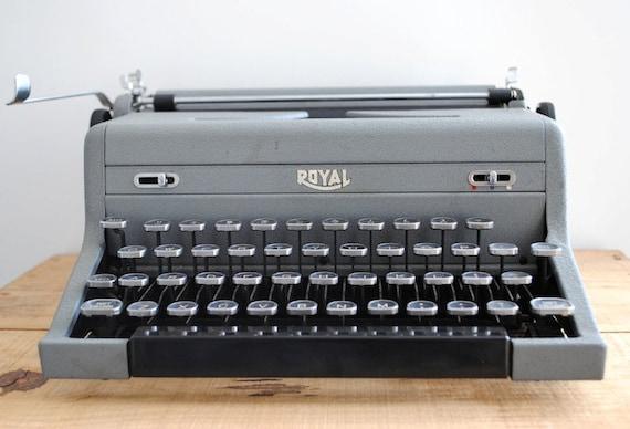 RESERVED Vintage Typewriter - Grey Royal Arrow Portable Typewriter