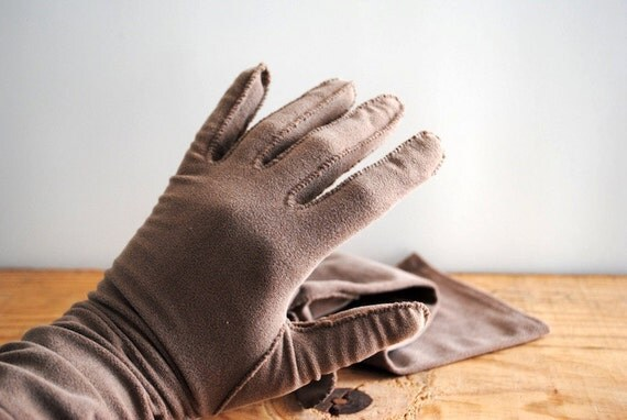 Vintage Ladies Gloves Long Opera Gloves Medium Large