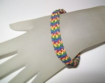 Rainbow Rubber Chainmaille Bracelet