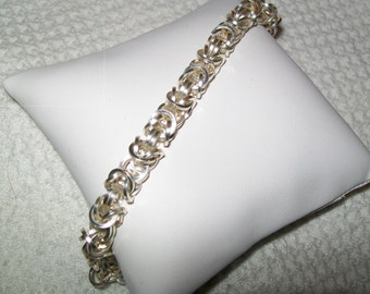 Square Byzantine Chainmaille Bracelet