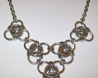 Large Triples Chainmaille Necklace