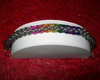 Forar's Kaede Color Band Chainmaille Bracelet