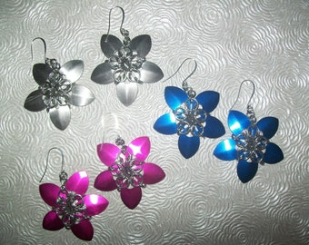 Design your own Chainmaille Flower Earrings