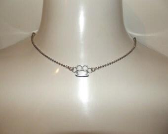 Brass Knuckle Necklace