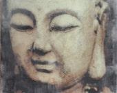 Enlightment - original photo-encaustic on wood