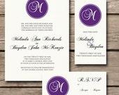 DIY - My Monogram - Stylish Wedding Invitation Set (printable)