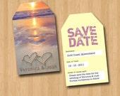 Luggage Tag Save The Date Beach DIY Set (printable)