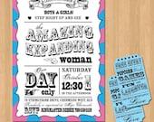 Circus/Carnival Baby Shower Invitation DIY Set (printable)