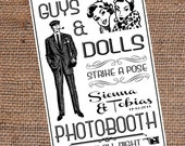 Custom Photobooth Sign DIY Printable 30in x 20in Retro Wedding Photo Booth