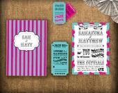 Circus/Carnival Wedding Invitation DIY Set (printable)