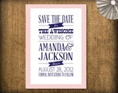 Retro Wedding Save the Date DIY Design (printable)