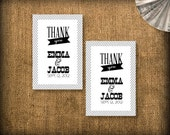 Thank You Favor Tags (printable) - Wedding/Party DIY Personalized