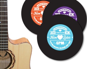 Vinyl Record Label Wedding Invitation DIY set (printable)