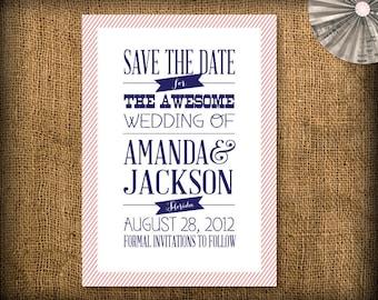 Retro Wedding Save the Date DIY Design (printable)