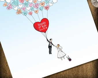 Fun Wedding Guest Book Alternative - Balloons (printable) DIY - 130 guests
