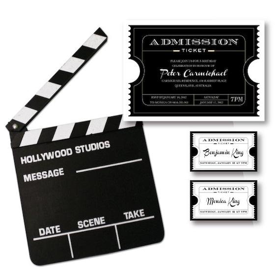 Items Similar To Movie Ticket Birthday Party Invitation