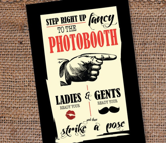 Custom Photo Booth Sign DIY Printable 30x20 inch Wedding/Halloween/Party Photo Booth