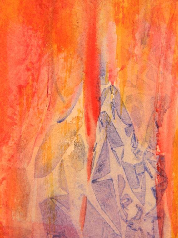 Watercolor Painting  Abstract Original Art