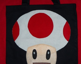 "by Mario Bros. characters  """" TOAD """"  canvas  TOTE BAG"