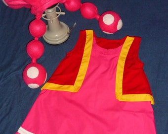 By Super Mario Bros. characters  TOADETTE compleate costume Custom on Any Girls Size