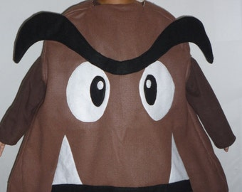 by Mario Bros. characters GOOMBA the bad mushroom boys or girl costume  Sz 8 to 11 years